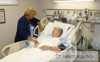 Уход за лежачими больными в условиях стационара