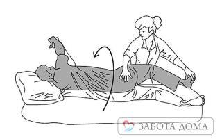 Как правильно повернуть, перевернуть или поднять лежачего больного?