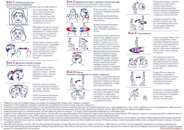 Упражнения вестибулярной гимнастики для пожилых