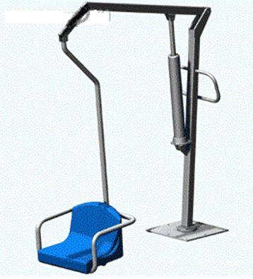 Подъемник-стендер для взрослых инвалидов для самостоятельного перемещения человека